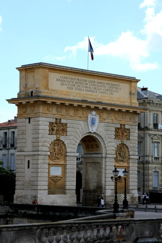Porte du Peyrou in Montpelliers Altstadt