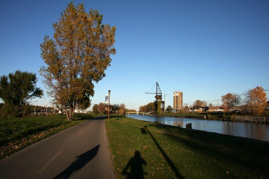 Radweg entlang Montreals Lachine-Kanal