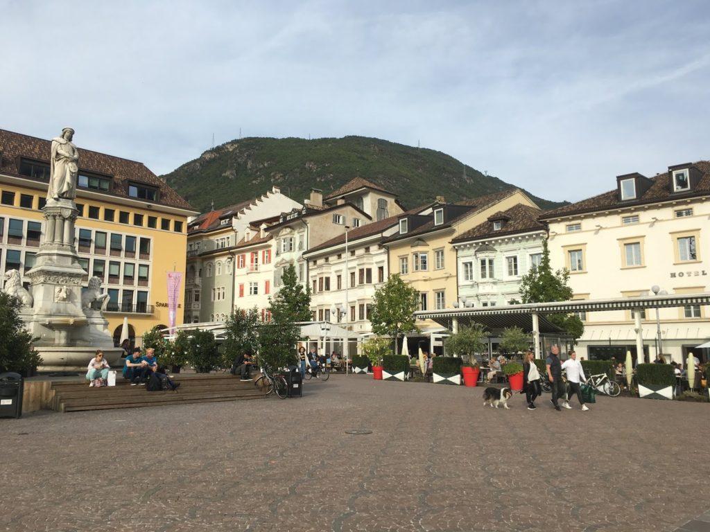 Bozener Marktplatz in Südtirol