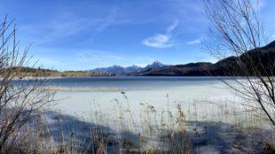 Blick nach Osten auf dem Weißensee-Rundweg Füssen